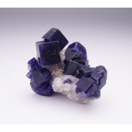 Fluorite on Quartz La Viesca M04287