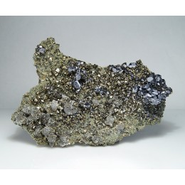 Galena, Pyrite and Calcite on Quartz Bulgaria M04112