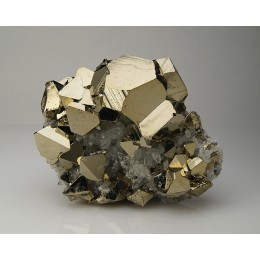 Pyrite and Quartz Huanzala, Peru M04053