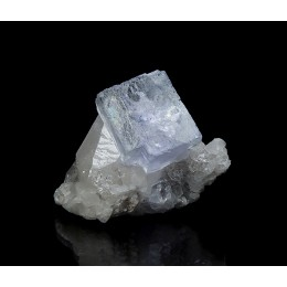 Fluorite on Calcite La Viesca M03987