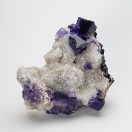 Fluorite on Quartz La Viesca M03995