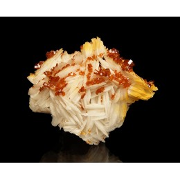 Vanadinite on Baryte Mibladen, Morocco M03866