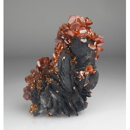 Vanadinite on Baryte Mibladen, Morocco M03900