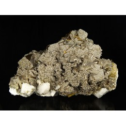 Fluorite, Pyrite and Calcite Villabona Mine - Asturias M03876