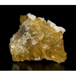 Fluorite Calcite and Pyrite Villabona Mine - Asturias M03879