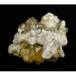 Pyrite, Calcite and Fluorite Villabona Mine - Asturias M03877