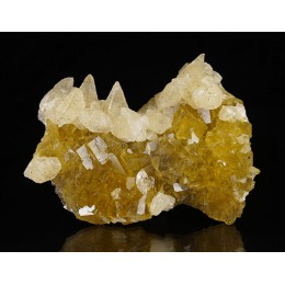 Calcite on Fluorite, Moscona Mine M03705