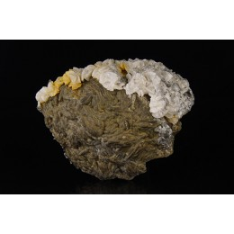 Pyrite ps. Baryte and Dolomite, Moscona Mine M03676
