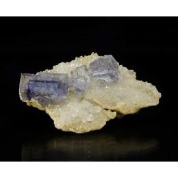 Fluorite on Quartz La Viesca M03441