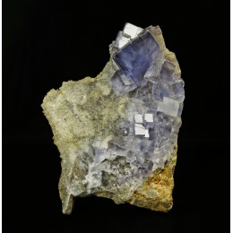 Fluorite on Quartz - La Viesca mine, Asturias M03357