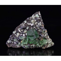 Fluorite with Galena, Rogerley Mine - UK M03165