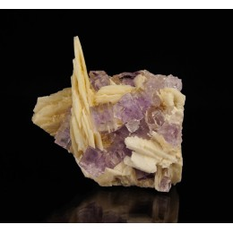 Fluorite on Baryte - Berbes M03126