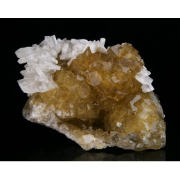 Baryte on fluorite Moscona M02570