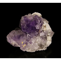 Fluorite on quartz La Viesca M02624