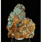 Rosasite and calcite Mexico M02396