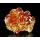 Vanadinite on Baryte Mibladen - Morocco M02755