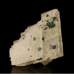 Chalcopyrite & Malachite on Dolomite crystal M02717