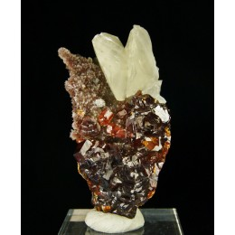 Calcite on Sphalerite China M02678