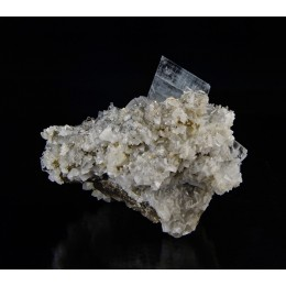 Blue Baryte on Dolomite and Fluorite - Moscona Mine  M03109