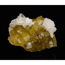 Baryte on Fluorite Moscona Mine M03014