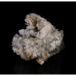 Calcite on baryte - Moscona Mine M03008