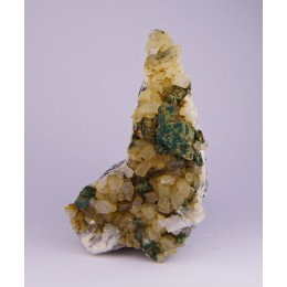 Chalcopyrite & Malachite on Dolomite - Eugui M02979