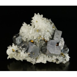 Galena on quartz Madan M02377