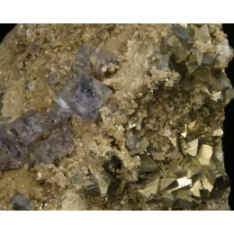 Fluorite and  arsenopyrite M01218
