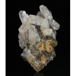 Calcite on Fluorite Loroñe M01211