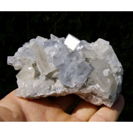 Fluorite and calcite La Viesca M01019